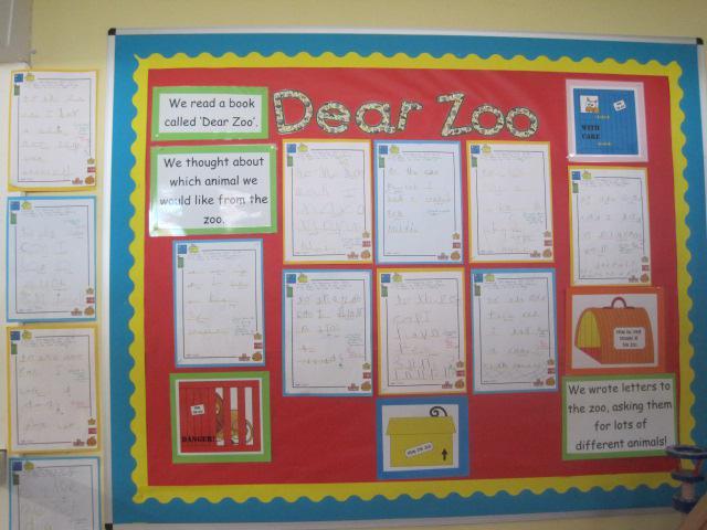 Class R - Dear Zoo Letters
