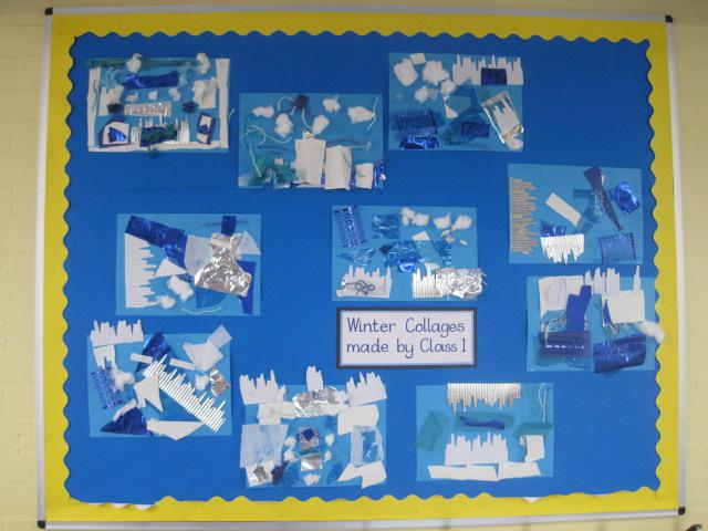 Class 1 - Winter Collages