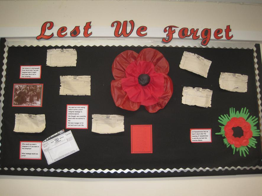 Class 3 - Lest We Forget