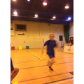 Madison is so fast the camera can't focus!