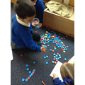 sorting letter tiles by sound