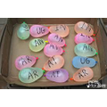 water balloons with words or sounds (lower case)