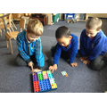 Using Numicon to find 1 more than