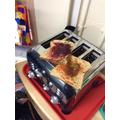 Making coloured toast