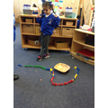 making a rainbow bear track