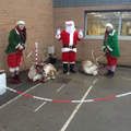 Santa with his crew