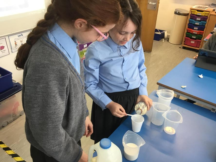 Can we change two liquids into a solid?