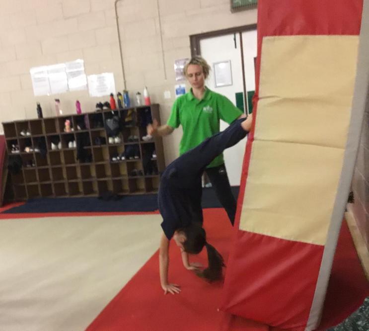 Practising handstand technique