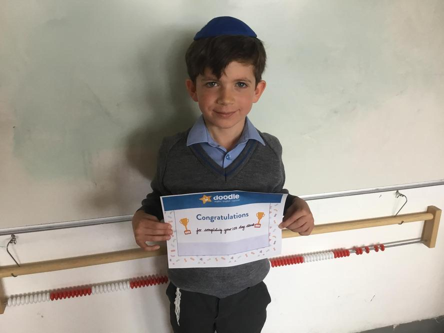 Our Doodle Maths star- 100 day streak!
