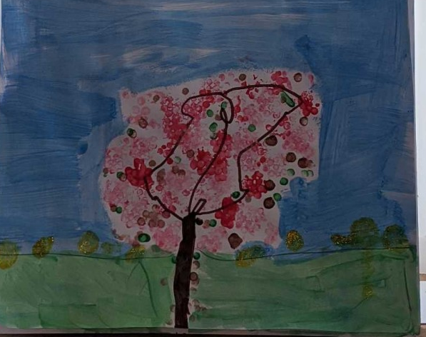 Effie's gorgeous cotton bud spring picture.