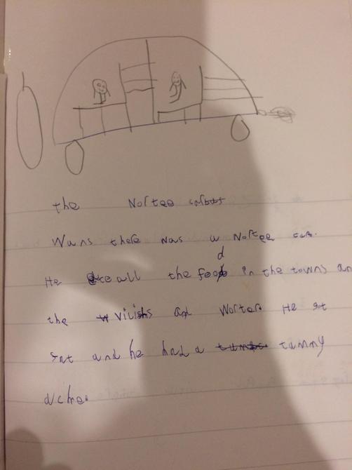 Year 1 Naughty Bus writing.