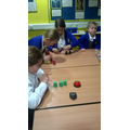 Who can stack the cups the quickest competition.