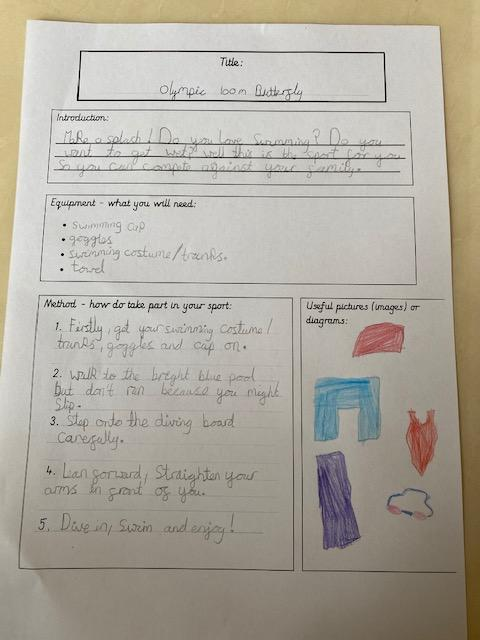 Detailed instructions in lovely handwriting by Mia