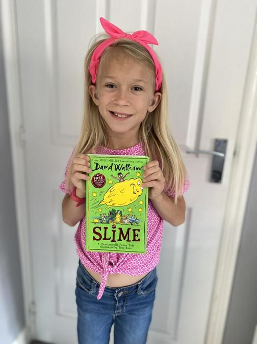 Ivy loved reading Slime by David Walliams!