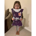 Hattie made her dress design.