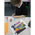 Finlay used different textures on his collage.