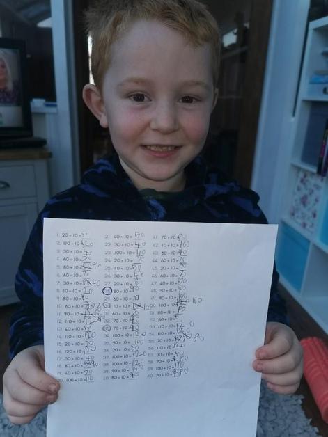 Samuel is proud of his rockstars.