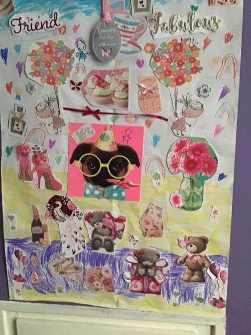 Jessica's colourful collage!
