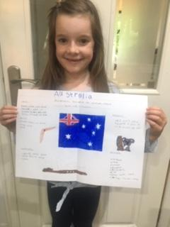 An informative poster about Australia by Isla.
