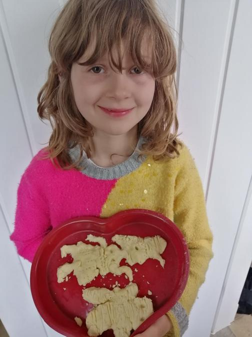 She made gingerbread biscuits.
