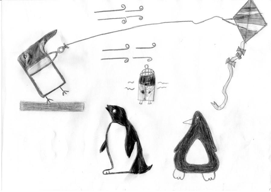 Holly B's carefully drawn penguins!