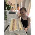 Great cooking skills from Eva!