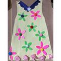 Gracie's collaged 60's dress.
