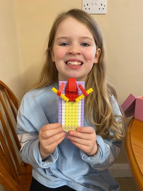 Sophie's lego Olympic flame!
