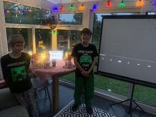 Louis had a film night for Henry's birthday!