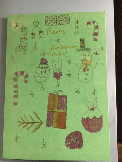 Seb's Christmas card to you all