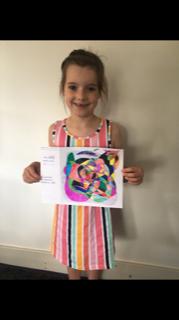 Isla was inspired by Jackson Pollock.