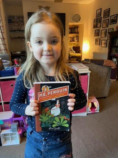 Abi is looking forward to reading Mr Penguin!