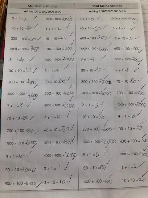 Jake's minute Maths