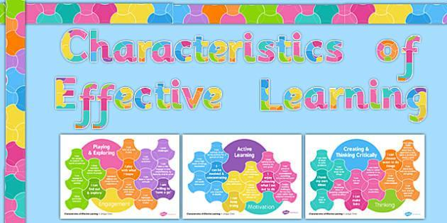 Characteristics of Effective Learning.