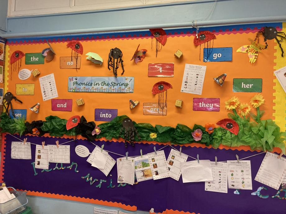 Our Phonics in the Spring 🌻 display