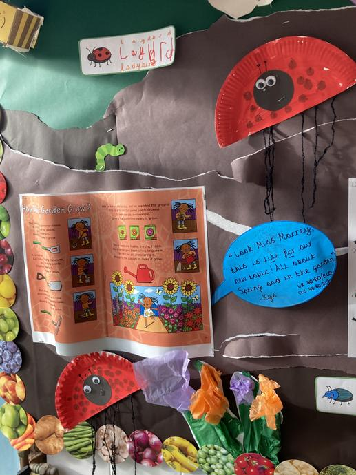 'In the garden'  reading links