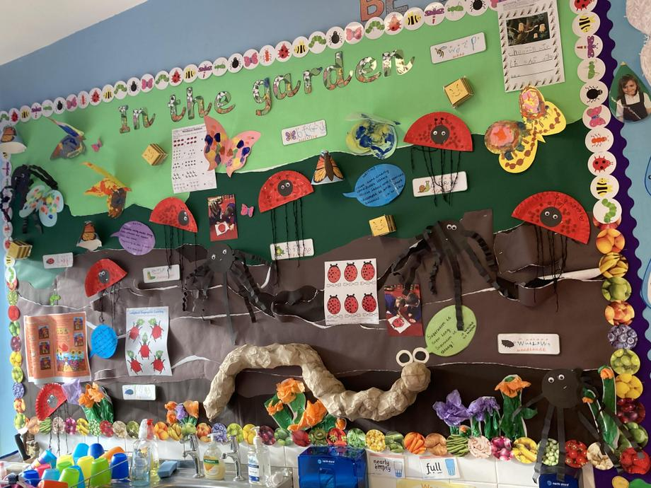 'In the garden'  Spring 2 display