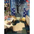 Winter Wonderland reading area.
