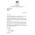 Letter from the Minister of State for Schools.