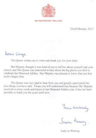 Jubilee letter from the Queen