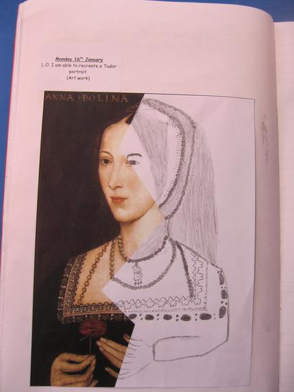 We drew some pictures from the Tudors by Amelia