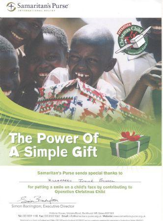 Operation Christmas Child - Shoe Boxes Dec '14