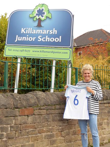 Past pupil and England player Millie Bright visit