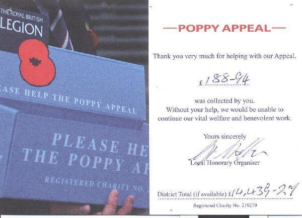Poppy Appeal 'Nov 14 Click here to view