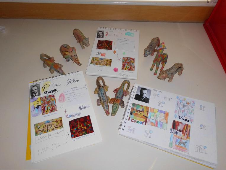 We focused on the work of artist Paul Klee