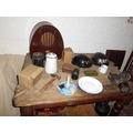 A table in the air raid shelter