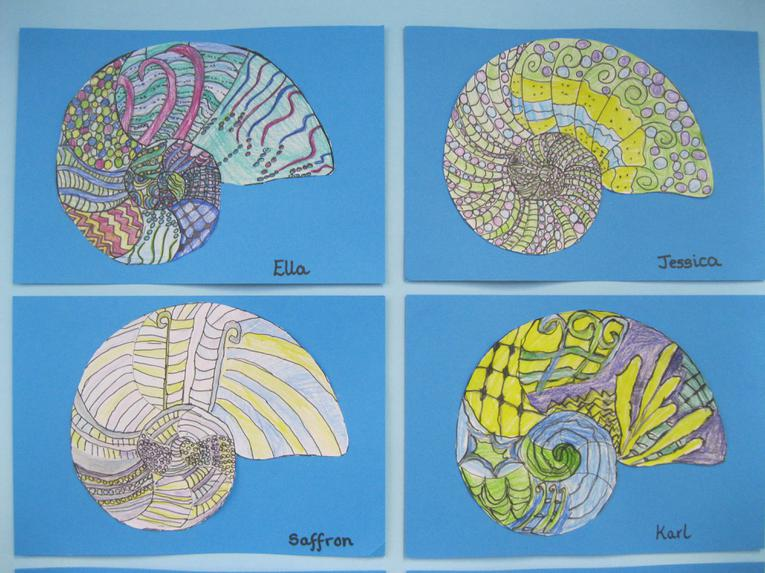 We have used Zentangle, to colour in