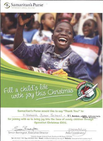 Operation Christmas Child Shoe Box Appeal 2012