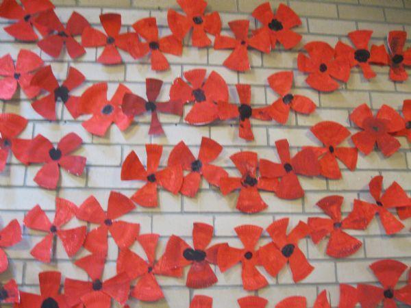 WW1 Memorial Display - Methodist Church July '14