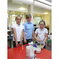 We used porridge oats, butter, sugar and syrup